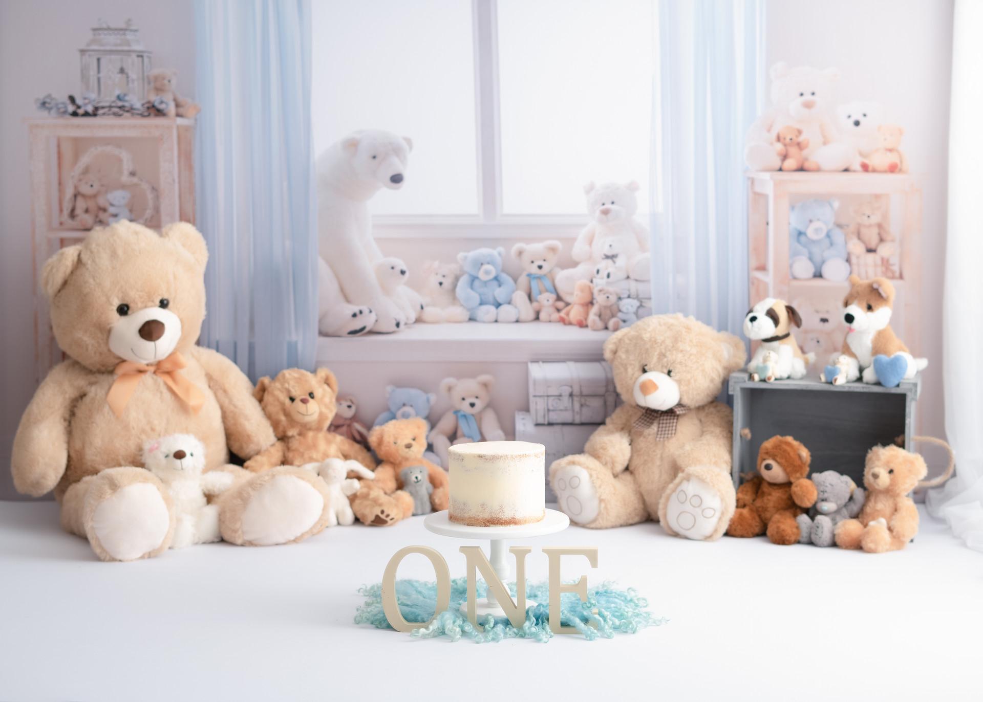 Teddy Bear Cute Baby Cake Smash Essex