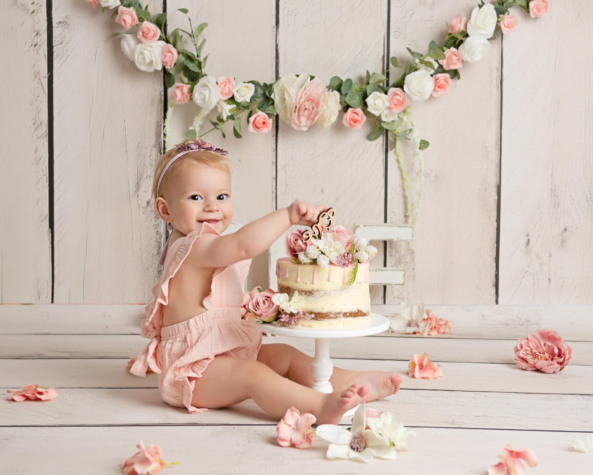 1st Birthday Cake Smash Photography Essex
