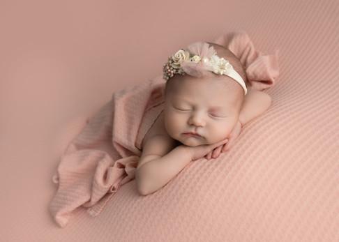 Baby Girl Pink Newborn Baby Photos Photoshoot Essex Newborn Photographer .jpg