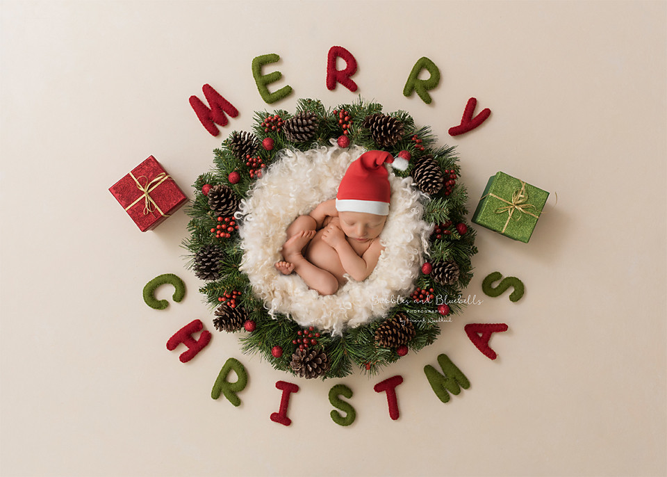 Christmas newborn theme essex photography baby