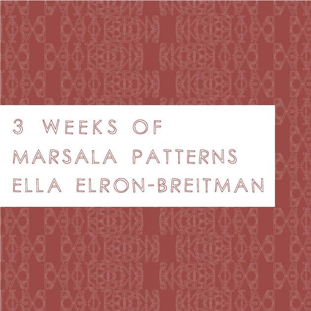 3 Weeks of Marsala Patterns