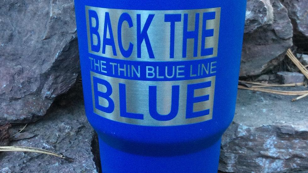 30oz Back The Blue - Thin Blue LineTumbler