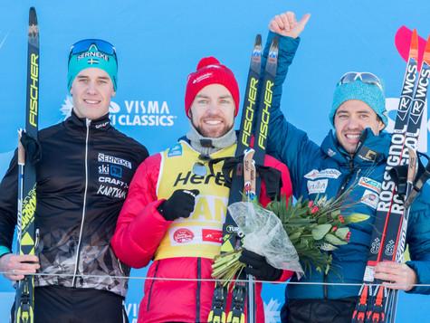 Medal podium for Bauer Ski Team at Kaiser Maximilian Lauf: Ilya Chernousov finished third