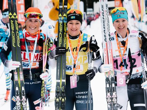 Katerina Smutna took silver medal in Jizerska 50