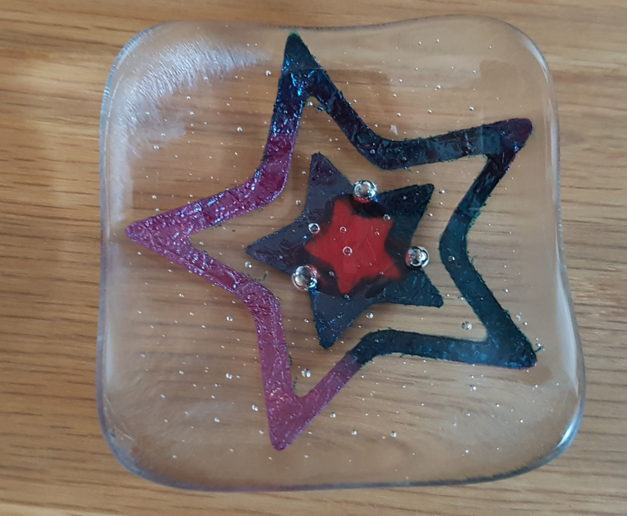Fused Glass Dishes with Copper