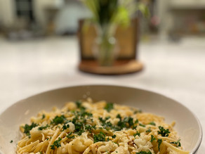 RECIPE: Linguini with Roasted Cauliflower, Capers and Garlic