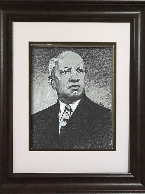 GPCW - Charcoal drawing - Carter G. Woodson