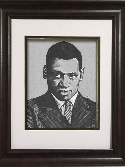 GPPR - Charcoal drawing - Paul Robeson