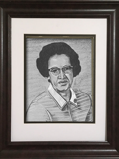 GPKJ - Charcoal drawing - Dr. Katherine Johnson