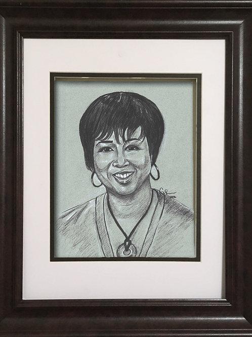 GPMJ - Charcoal drawing - Mae Carol Jemison