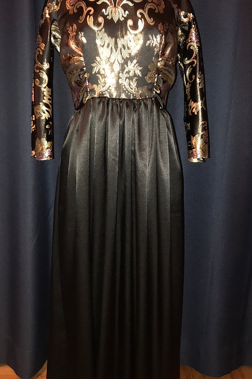 ND-ONI-010  Brocade and satin F/L  Dress