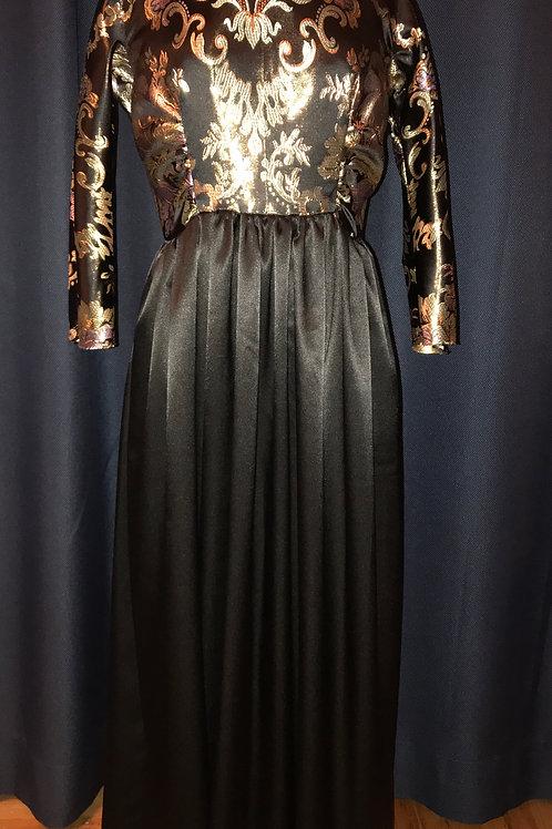 ND-ONI-010  Brocade and satin F/L  Dress
