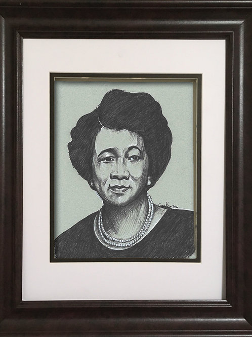 GPDH - Charcoal drawing - Dorothy Height