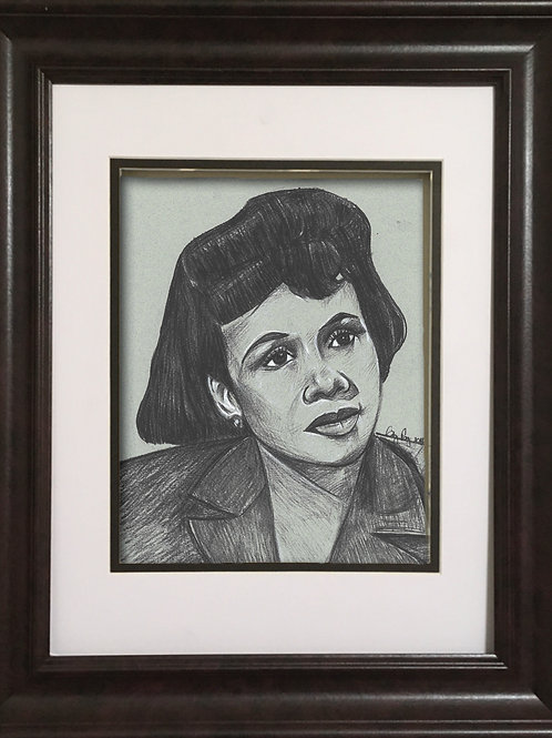 GPKD - Charcoal drawing - Katherine Dunham