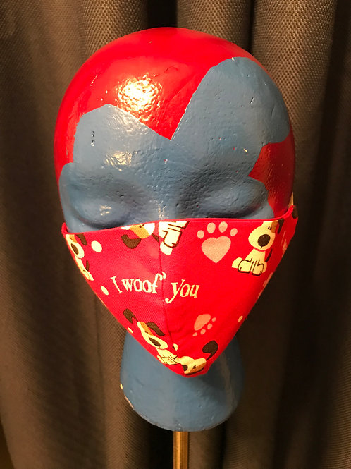 Adult Flat Face Mask - Hearts2