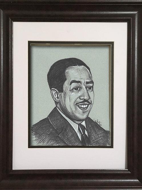 GPLH - Charcoal drawing - Langston Hughes
