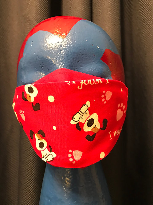 Adult 3D-2Ply Face Mask - Hearts3