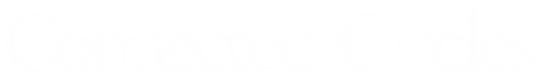 Connected Circles logo white transparent