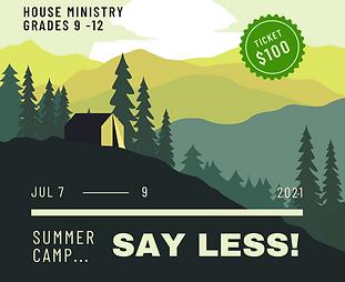 Summer Camp Illustration Instagram Post.