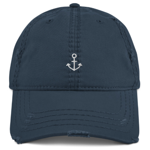 Distressed Anchor Dad Hat