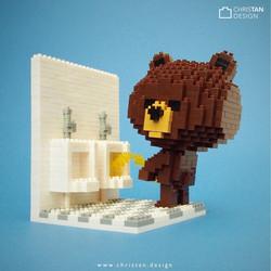 Brownie in Toilet