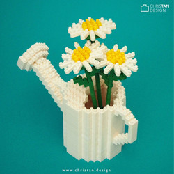 Daisies in Watering Can