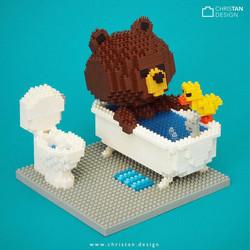 Brownie Bathing