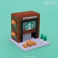 Custom miniblock for Starbucks