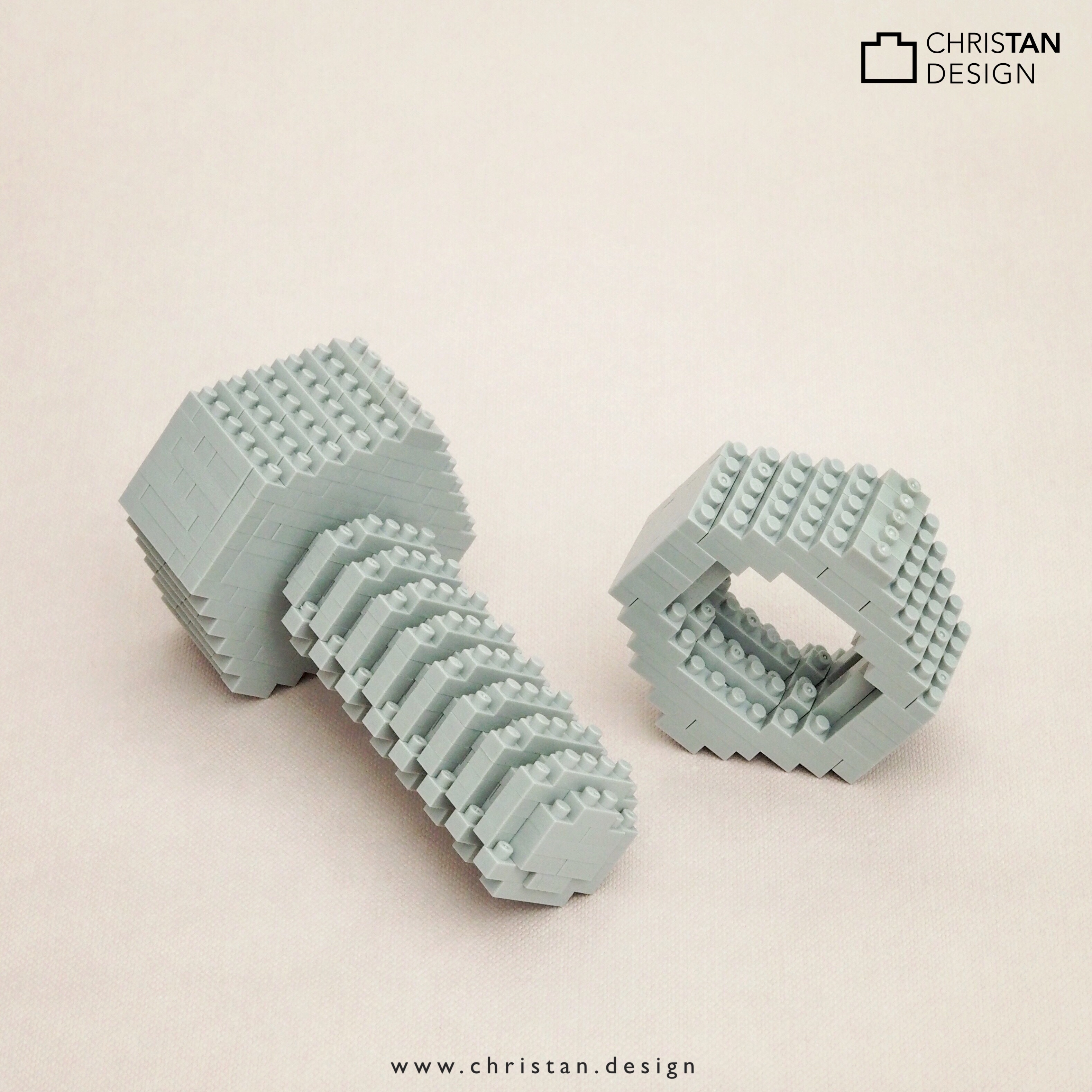 nanoblock Nut and Bolt