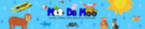Moo Da Moo logo and paper character cututs