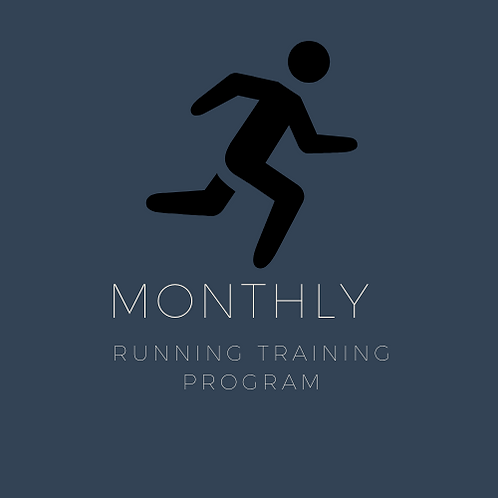 Monthly Run Training Program