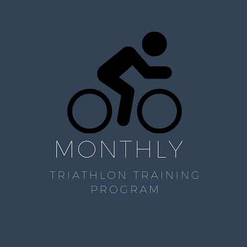 Monthly Triathlon Training Program