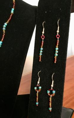 Jewelry set earrings