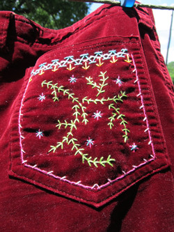 Recycled Retro Pants Detail