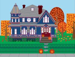 Autumn Victorian House