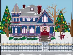Winter Victorian House