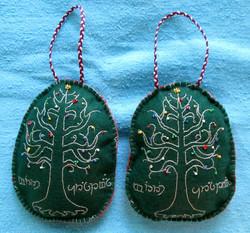 Tree of Gondor Ornaments