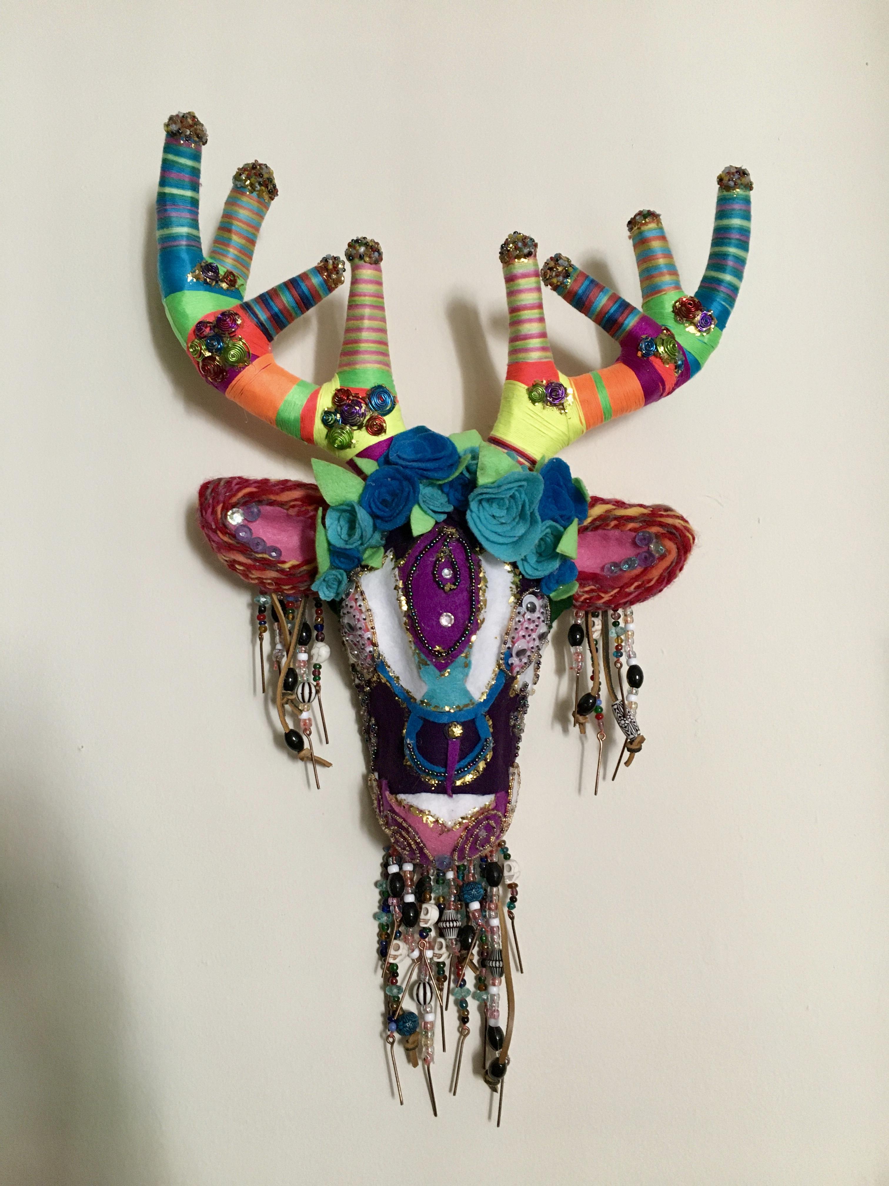 Felted Deer Head