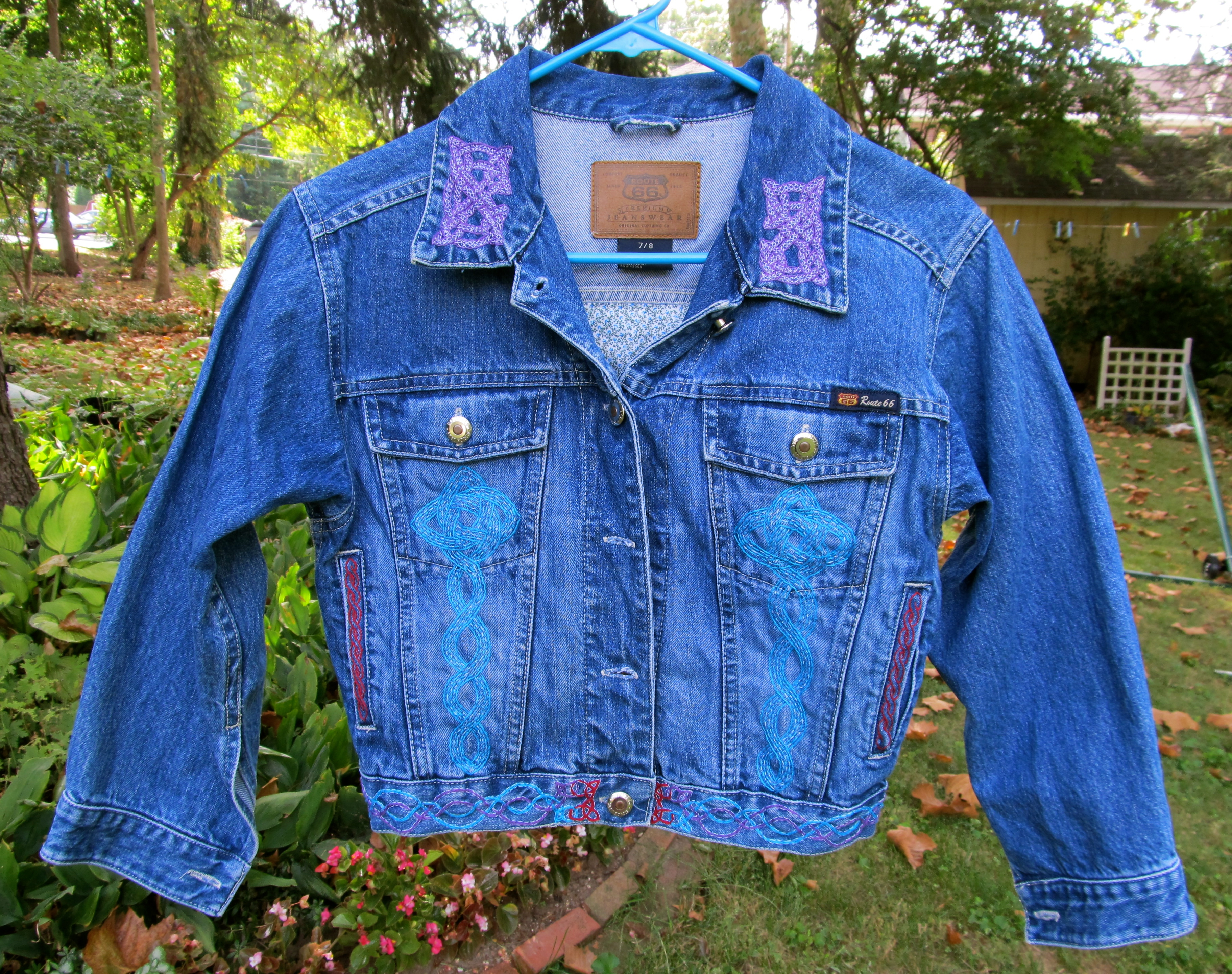 Hand Embroidered Jean Jacket