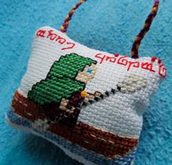 Hobbit Kayaking Ornament Detail