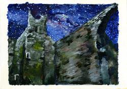 Cistercian Abbey with Milkyway