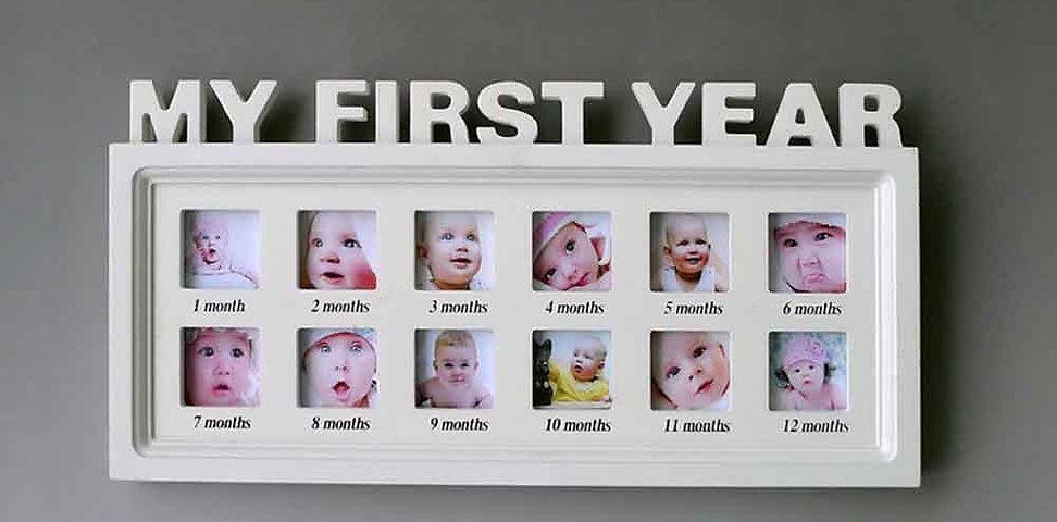 Κορνίζα Μωρού «MY FIRST YEAR»