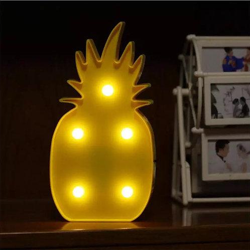 Φωτιστικός Ανανάς με 5 LED  25x13εκ