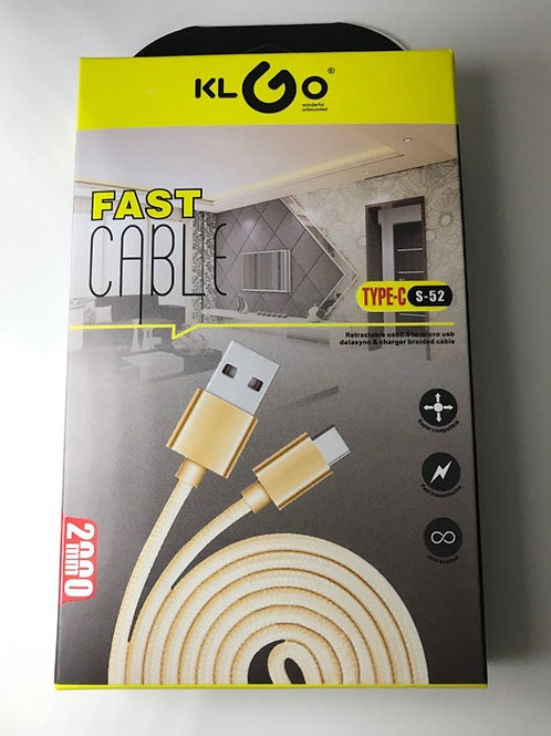 KLGO S-52  Fast cable 200mm type C  GOLD