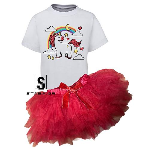Σετ Τ-Shirt με φούστα tutu 4E-14E