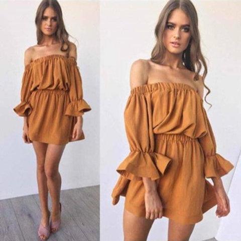 Φόρεμα σουέτ