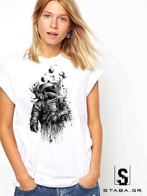 T-shirt με στάμπα Αστροναύτης