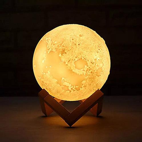 Ανάγλυφο Φωτιστικό 3D Φεγγάρι Led με εναλλαγή Χρωμάτων, 20εκ