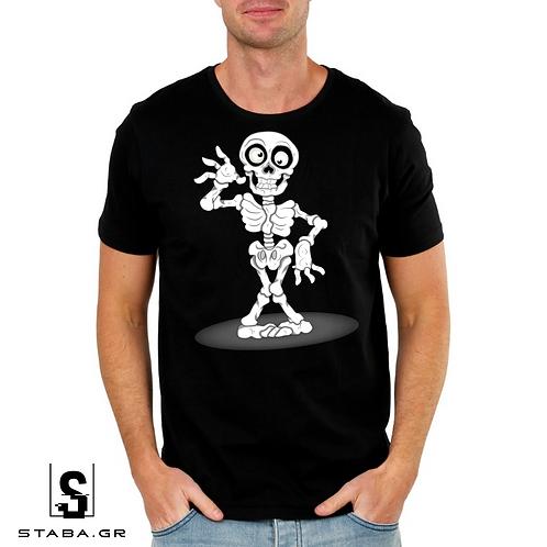 T-shirt με στάμπα Σκελετός