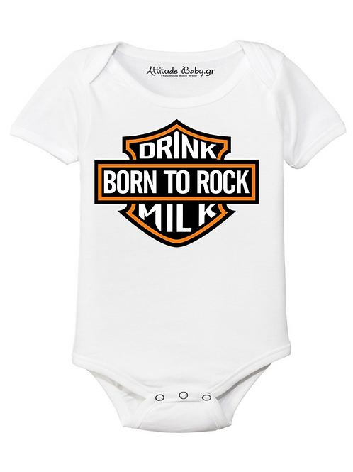 Φορμάκι / T-shirt παιδικό Born to rock με στάμπα
